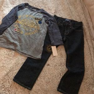 3/4 sleeve NWT graphic shirt and Old Navy jeans!